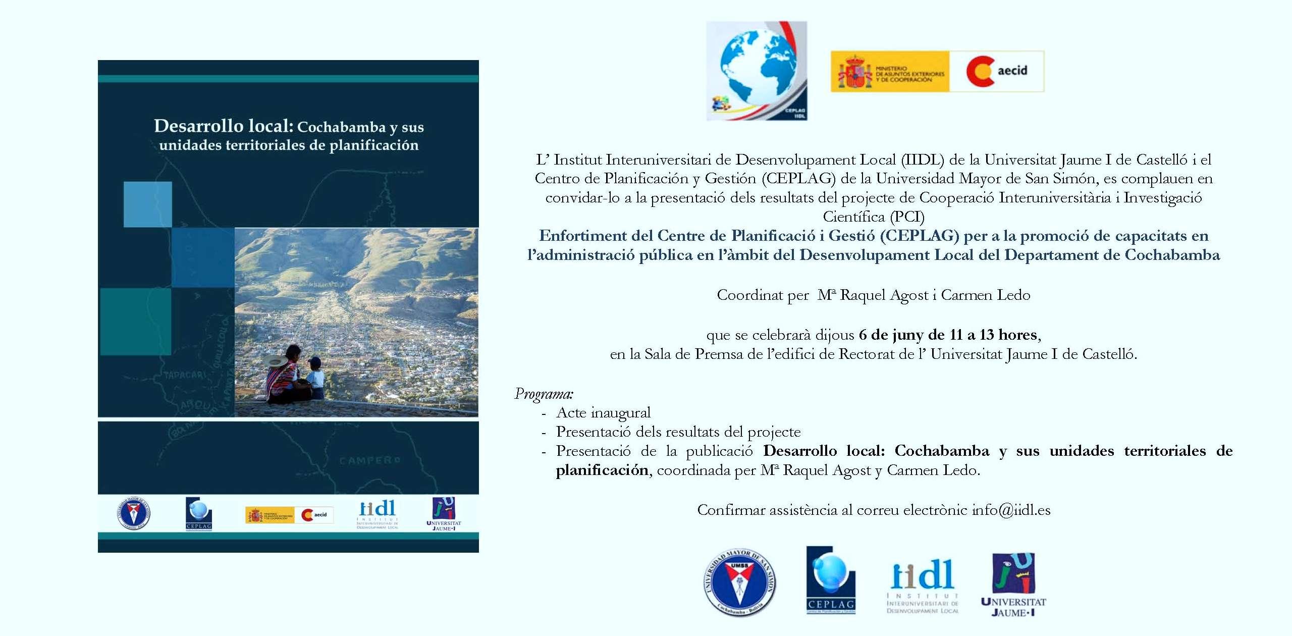 Invitacion  val UMSS-UJI 2013